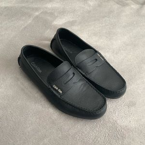 Calvin Klein Leather Loafer Slip Ons